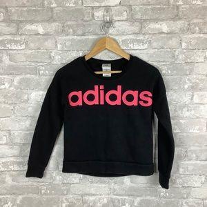 Adidas Crewneck Sweatshirt Black Girls 10/12